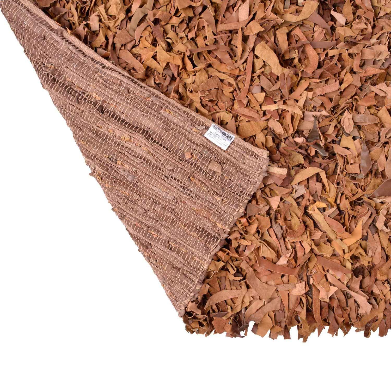Homescapes Designer Designer Designer Teppich Dallas 120 x 180 cm, Leder, modern, Schokolade B001103X0C Teppiche d6dbe9