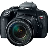 "Canon 1894C003 Digital SLR Camera EOS Rebel T7i 24.2 Mp with Lens, 18 mm-135 mm, 3"" Touchscreen LCD, 16:9, 7.5x Optical Zoom, Optical (IS), E-TTL II, 6000 x 4000 Image, 1920 x 1080 Video, HDMI"