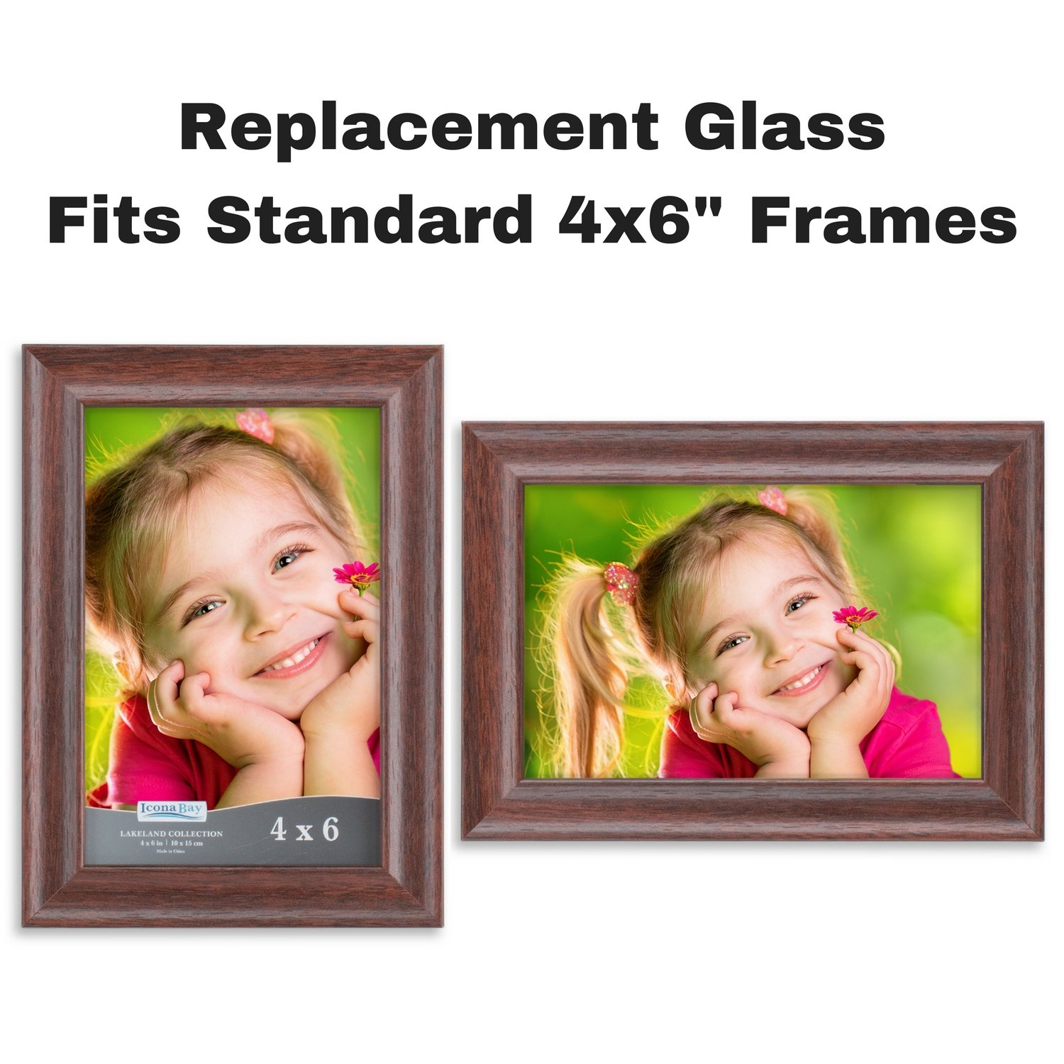 Amazoncom Icona Bay 4x6 Picture Frame Glass Replacement 4 X 6 2