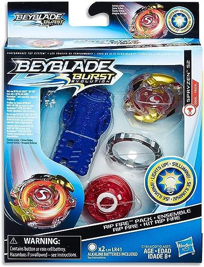 Beyblade Burst Evolution Rip Fire Starter Pack Spryzen S2: Amazon ...