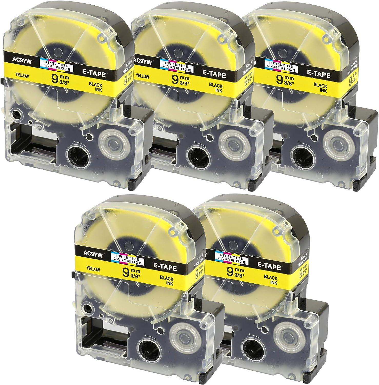 Prestige Cartridge E-AC9YW kompatibel zu Etikettendrucker Epson LabelWorks LW-500 schwarz//gelb