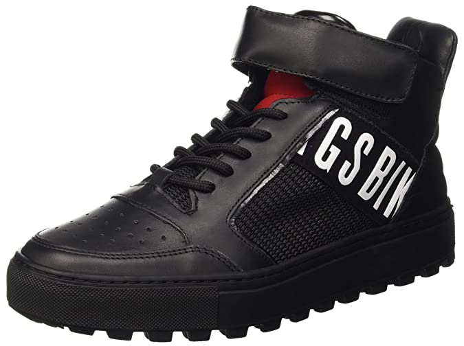 Track-er 765 Mid Shoe M Leather/Fabric, Mens High Trainers Dirk Bikkembergs