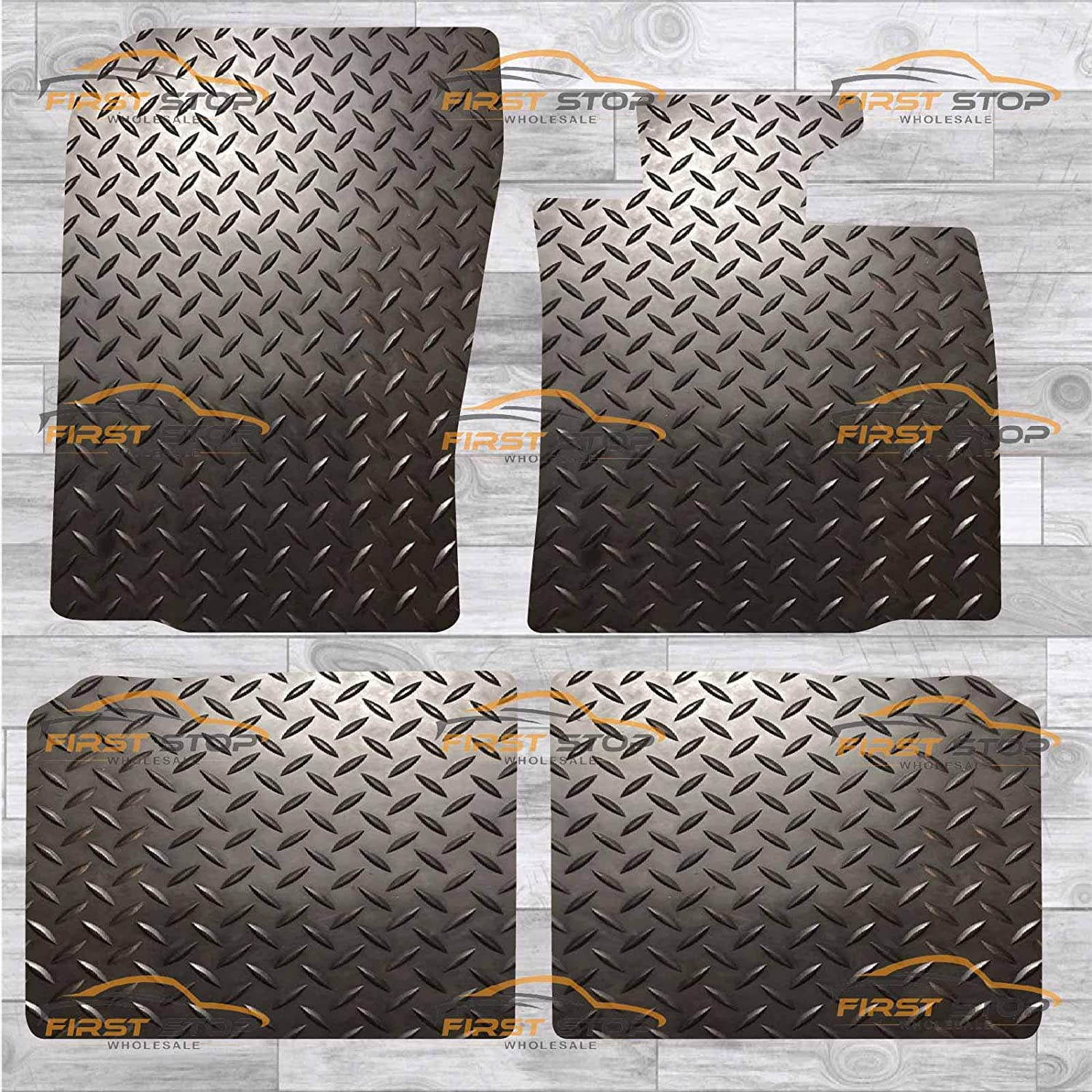 FSW Mini Countryman Sticky Pads Fixings R60 Tailored 5MM Waterproof Rubber EXTRA Heavy Duty Car Floor Mats