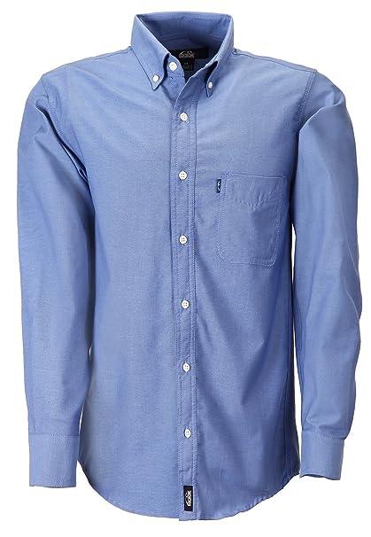Camisa caballero dacache manga larga oxford color azul francia hombre  uniforme empresarial ejecutivo oficina jpg 419x606 242a8dd6d7443