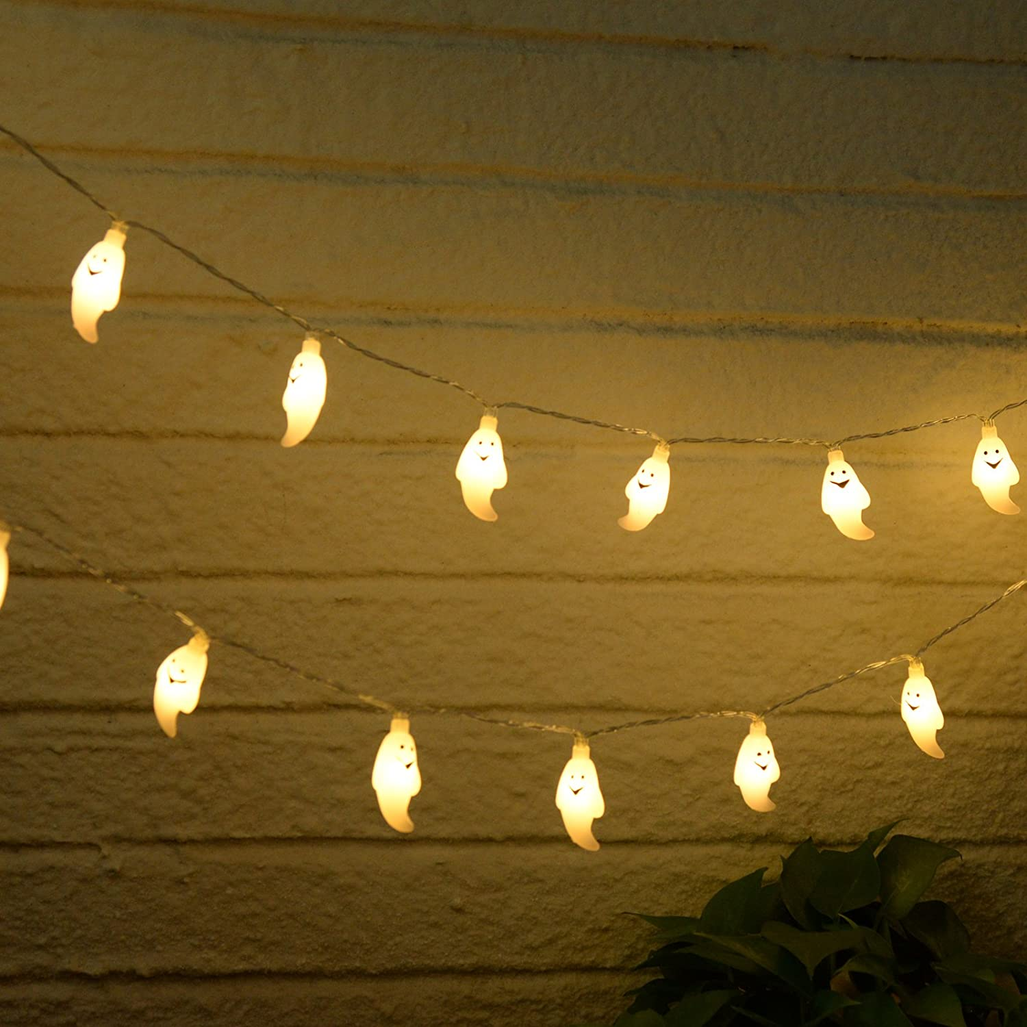 Amazoncom Ghost String Lights, Halloween Ghost Lights, Battery Operated 20