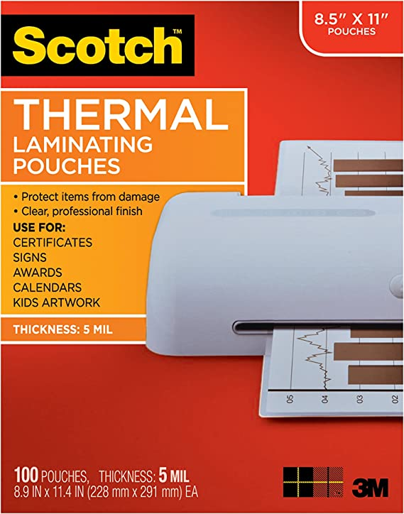 Scotch Brand  Thermal Laminating Pouches