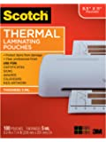 Scotch Thermal Laminating Pouches, 5 Mil Thick for Extra Protection, 100-Pack, 8.9 x 11.4 inches, Letter Size Sheets…