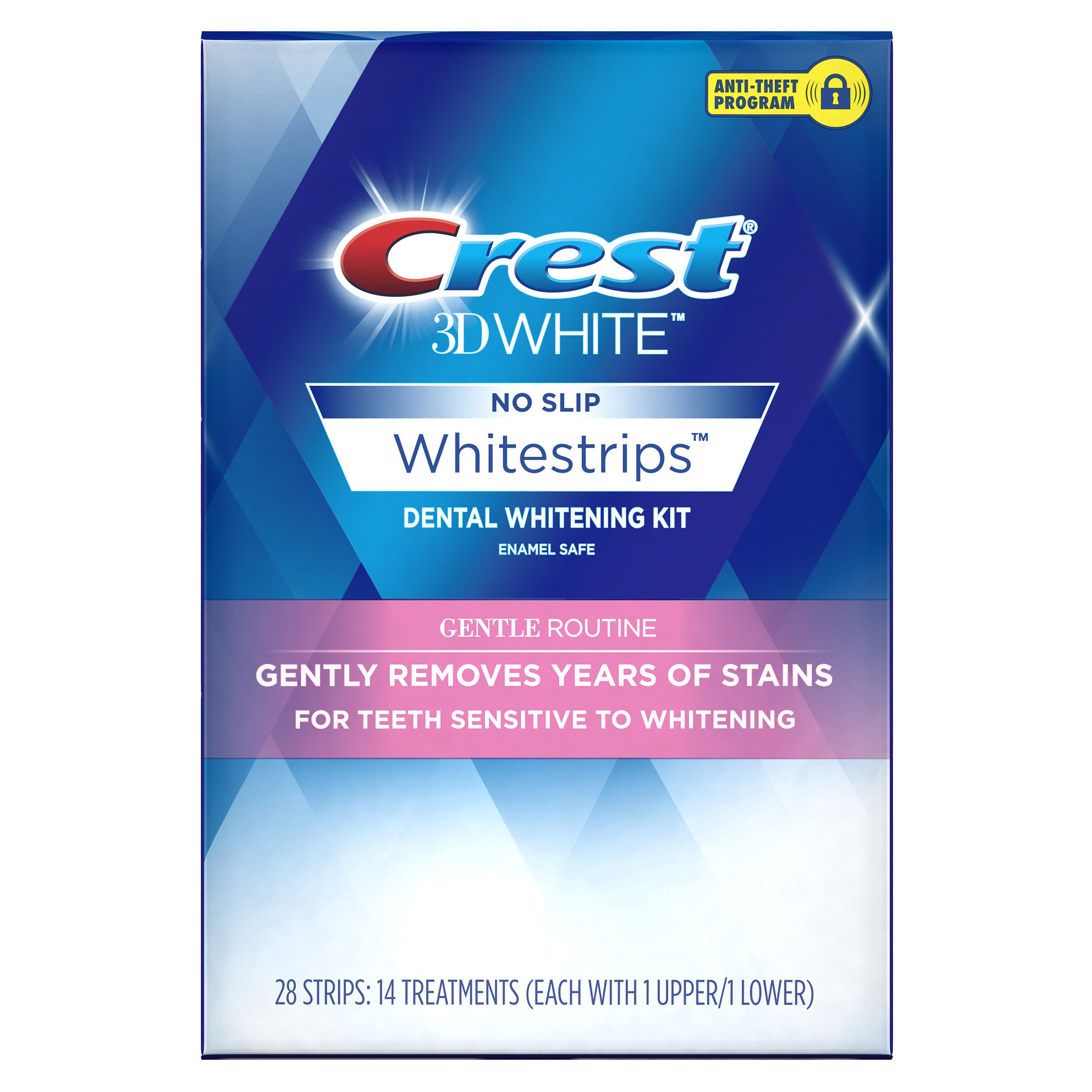 Crest 3D White Whitestrips Gentle Routine Teeth Whitening Kit, 14 Treatments by Crest