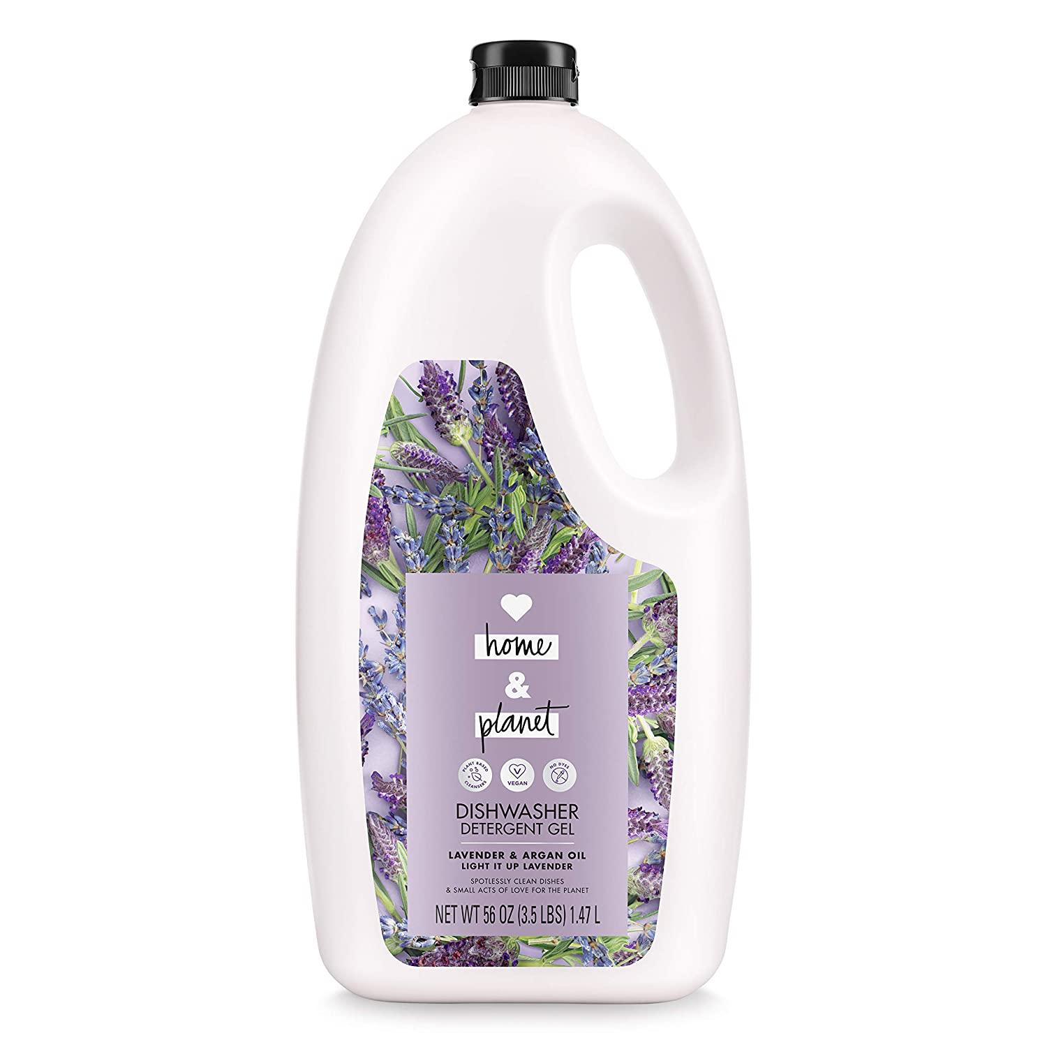 Love Home and Planet Dishwasher Detergent, Gel Lavender & Argan Oil, 56 oz