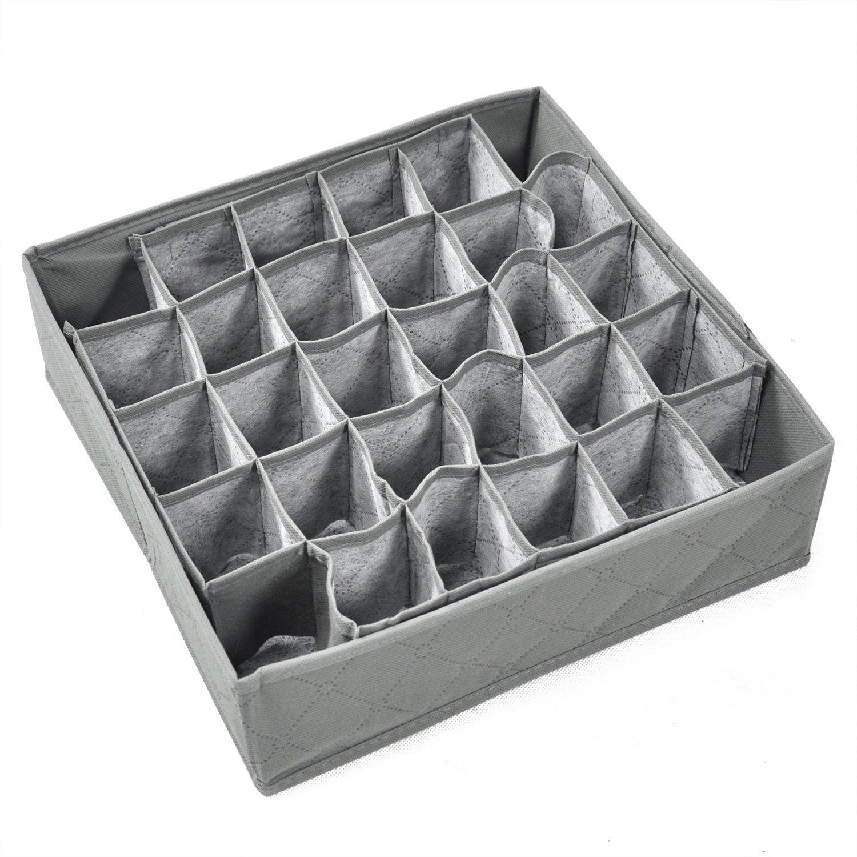 TRIXES Storage Box For Socks Ties Underwear Drawer - Wardrobe Organiser Container RR16