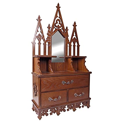 Design Toscano Display Cabinet   Claremont Manor   Wall Mounted Curio  Cabinet