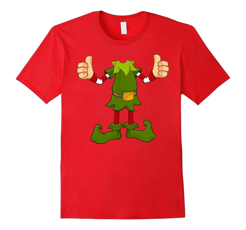 Elf Costume T-Shirt Funny Christmas Gift Idea Shirt-ANZ - Anztshirt