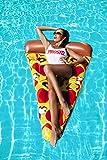 Luftmatratze Pizza XXL 175cm aufblasbar Schwimmliege Badeinsel Wasserliege #3513