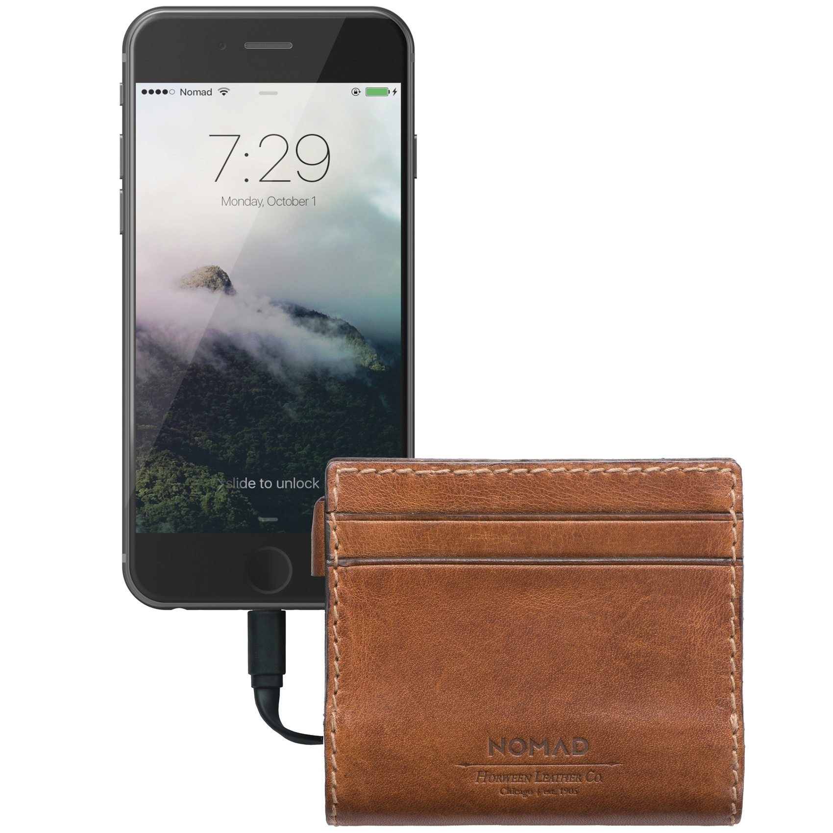 Nomad Slim Horween Leather Charging Wallet for iPhone by Nomad (Image #4)