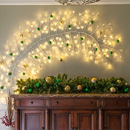 Amazon.com - 10\' Lighted Climbing Decorative Vine, Indoor/Outdoor ...