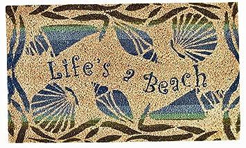 Good Door Mats   Lifeu0027s A Beach Doormat   17u0026quot; X 29u0026quot;   Nautical Door