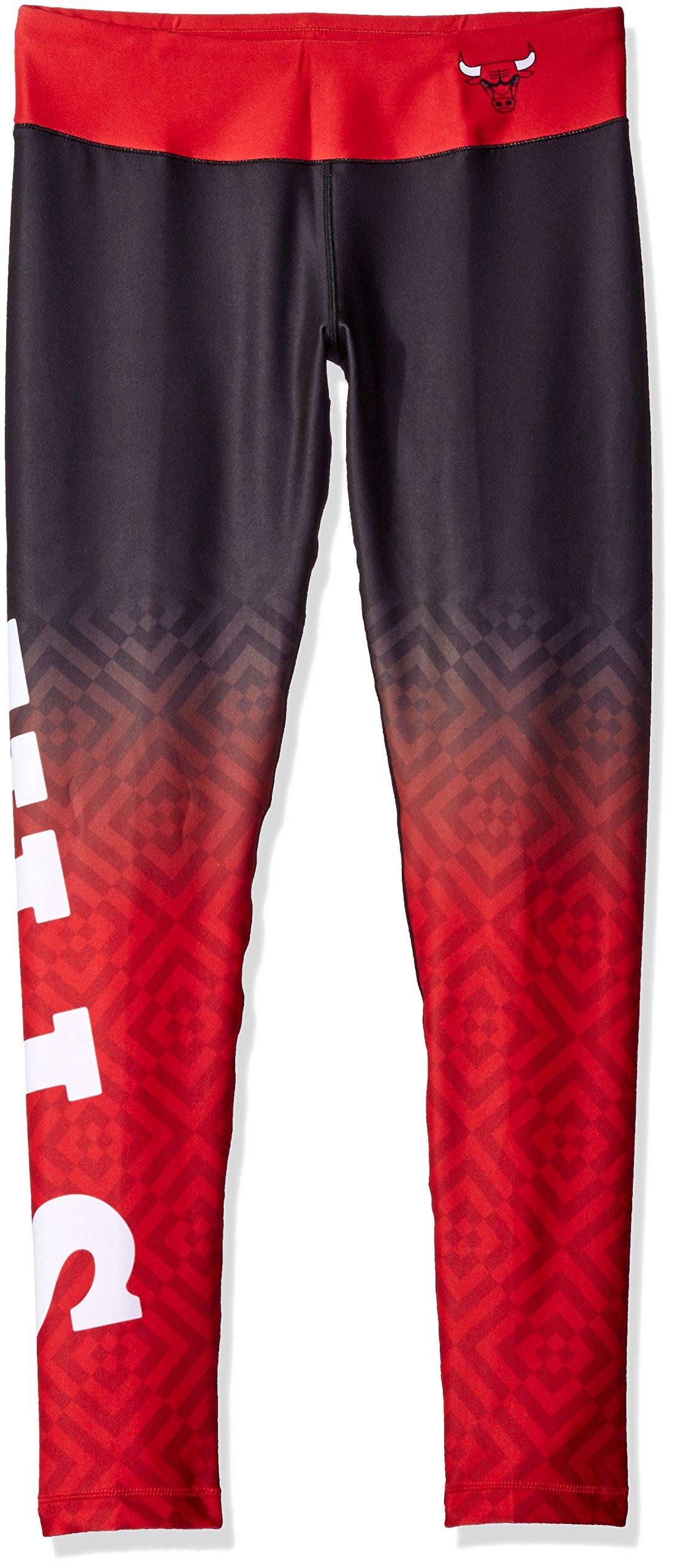 FOCO Chicago Bulls Gradient Print Legging - Womens Extra Large by FOCO