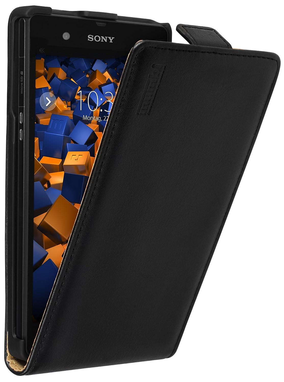mumbi PREMIUM Leder Flip Case Sony Xperia Z Tasche: Amazon.de ...