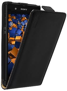 mumbi PREMIUM Leder Flip Case für Sony Xperia Z Tasche