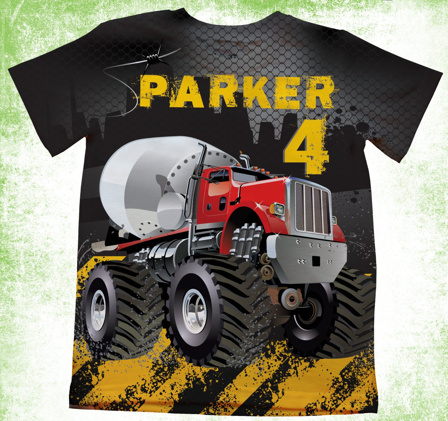 Personalized Construction T-Shirt, Dump Truck Birthday Shirt, Birthday Party Kids T-shirts, Theme Birthday Shirt, Construction Boys Bday
