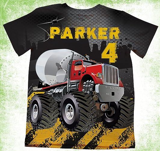 Amazon Personalized Construction T Shirt Dump Truck Birthday Party Kids Shirts Theme Boys Bday