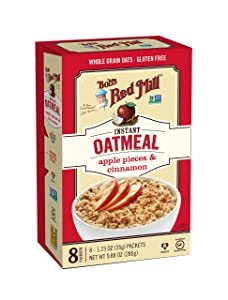 Bob's Red Mill Apple Pieces & Cinnamon Oatmeal Packets, 8-count