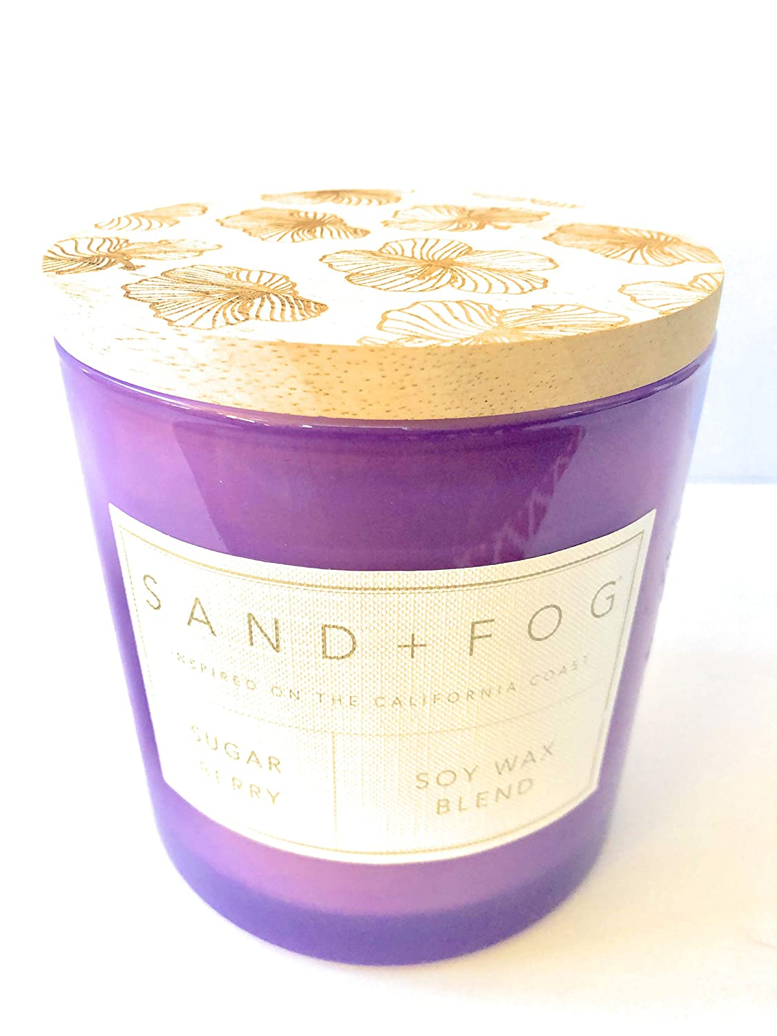 Sand /& Fog Large Sugar Berry Soy Wax Triple Wick Candle with Lid 25 Oz