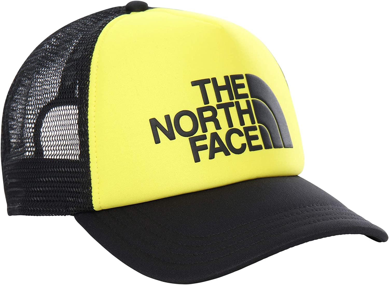 The North Face TNF Logo Trucker Cap Black and White