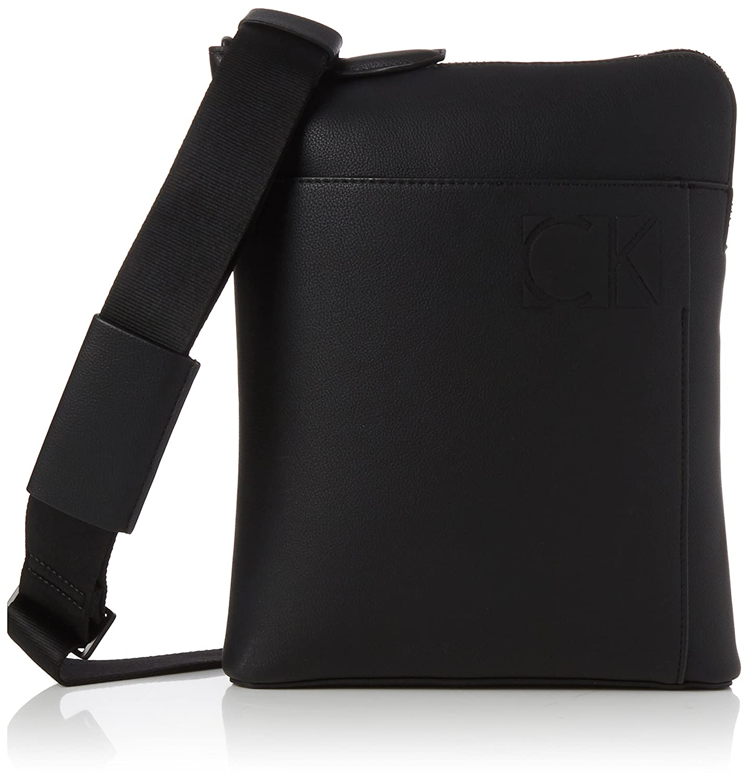 Calvin Klein Jeans TRACOLLA Uomo K50K503593 Primavera/Estate Sacs portés épaule homme Noir (Black) 3x27x22 cm (B x H T)