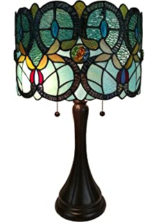Serena ditalia tiffany style table lamps contemporary mosaic amora lighting am286tl12 tiffany style floral table lamp mozeypictures Choice Image