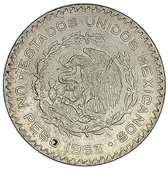 1963 MX Mexican Silver Peso (Morelos) Peso Good at Amazon's