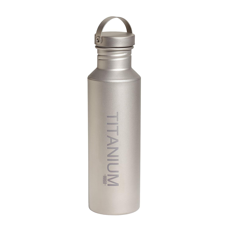 Vargo Wasserflasche mit Titan-Deckel, Grau, 650 ml, 1893760