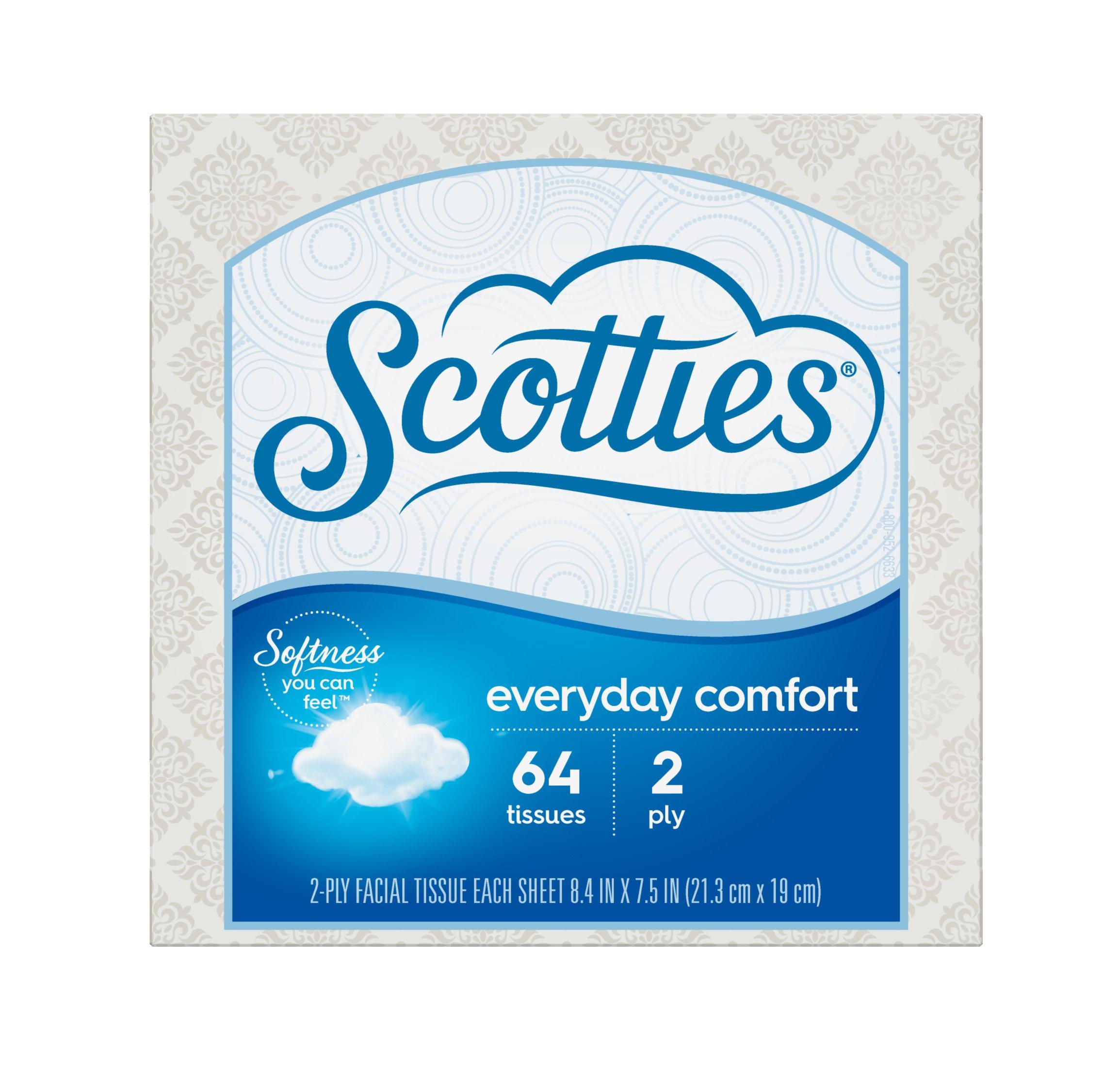 Scotties Everyday Comfort Facial Tissues, 64 Count