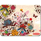 Meffort Inc Standard 9.5 x 7.9 Inch Mouse Pad (Colorful Flower Butterfly)