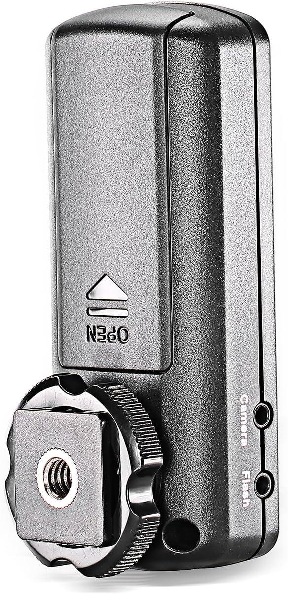 Receptor de Flash Inal/ámbrico para C/ámaras DSLR Canon y Nikon Neewer FC-16 Multicanal 2.4GHz 3-IN-1