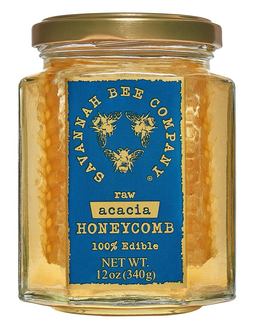Savannah Bee Acacia Honeycomb in a Jar 12 oz. by The Savannah Bee Company