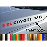 2x  5.0L COYOTE V8 Hood sticker decals emblem Ford F150 Boss Mustang