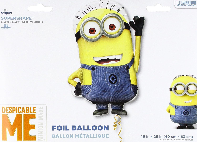 25 Anagram 29954 Minion Shape Supershape Foil Balloon Multicolored