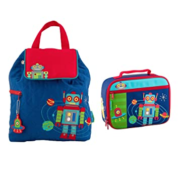 Stephen Joseph Quilted Robot Backpack and