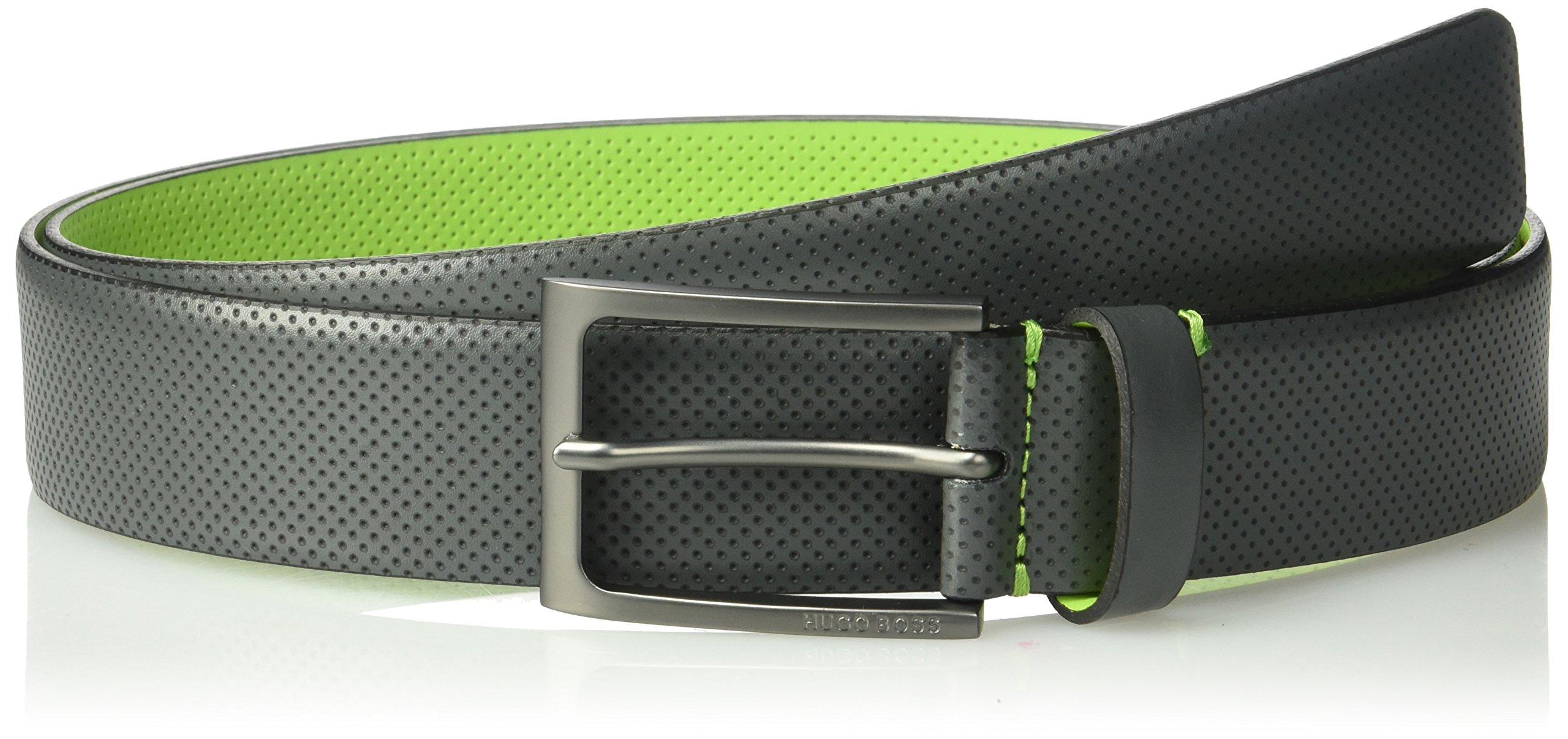 Boss Hugo Boss Men's Ticolor Printed Leather Belt, grey, 30 US - 80 EU