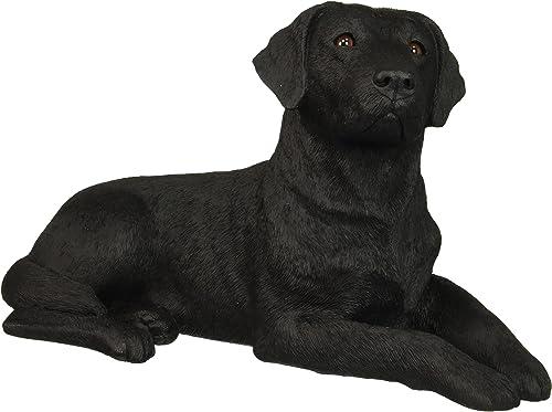 Sandicast Original Size Black Labrador Retriever Sculpture