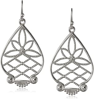 product image for 1928 Jewelry Silver-Tone Filigree Drop Earrings