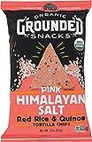 Lundberg Family Farms Organic Grounded Snacks Pink Himalayan Salt Red Rice & Quinoa Tortilla.