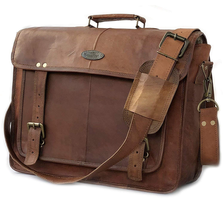 7793d9052e8f Details about USA Men Briefcase Leather Business Shoulder Bag Messenger  Satchel Laptop Handbag