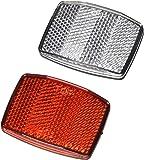 Fahrrad Reflektoren 2er Set rot/weiß Reflektor Katzenaugen vorn hinten