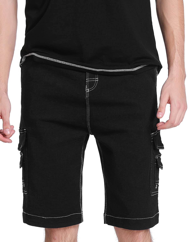 TALLA 30. Vertvie Pantalones Cortos Cargo de Trabajo Pantalones Deportivos Multi Bolsillos para Hombre Cómodo de Moda Pantalón Casual Verano