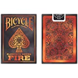 Bicycle Fire Element Poker Size Standard Index Playing Cards