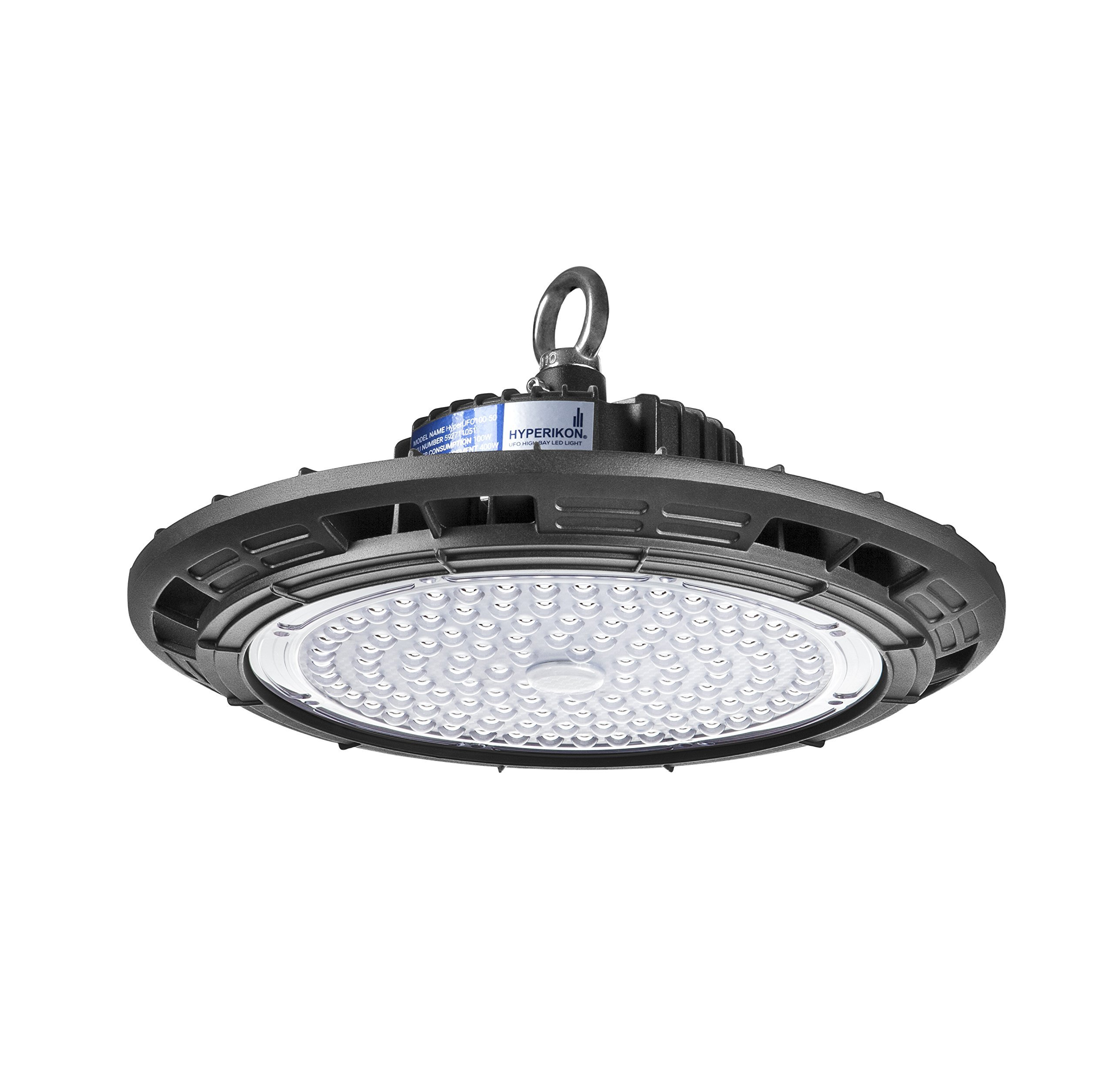 Hyperikon LED UFO High Bay Light, 150W (600W HID/HPS equivalent), 18,000 lumens, 5000K (Crystal White Glow), Super Bright Indoor Area Warehouse Lighting, DLC & UL Listed