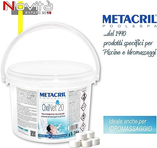 METACRIL OXI Net 20 Kg 1,2 OSSIGENO ATTIVO in pastiglie da 20gr DI TECNO LINE