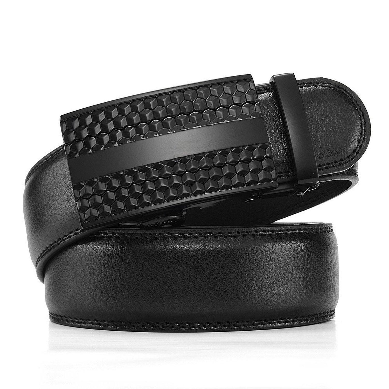 Wetoper Mens Belt Ratchet Belt for Men with Genuine Leather 1 3//8,Trim to Fit Color 1, 43-48 Waist